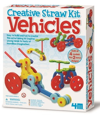 4M Creative Straw Kit Vehicles 4625