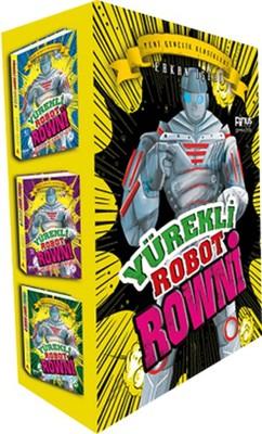 Yürekli Robot Rowni Seti - 3 Kitap Kutulu