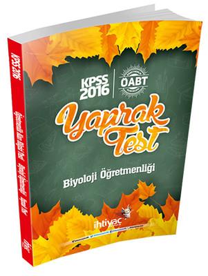 İhtiyaç ÖABT Biyoloji Öğretmenliği Çek Kopart Yaprak Test 2016