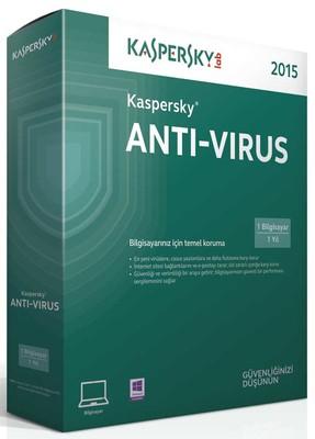 Kaspersky Antivirüs (2015) Kutu 1K-1Y