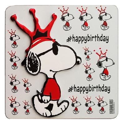 Peanuts Magnet Happy Birthday Kırmızı Taç 07