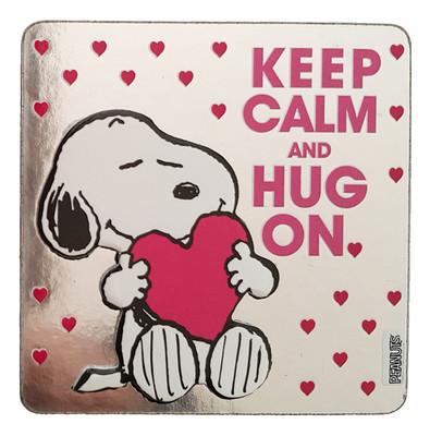 Peanuts Magnet Keep Calm&Hug On 21