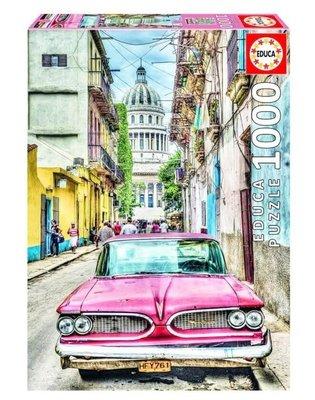 Educa 16754 Vintage Car in Old Havana 1000 Parça Puzzle