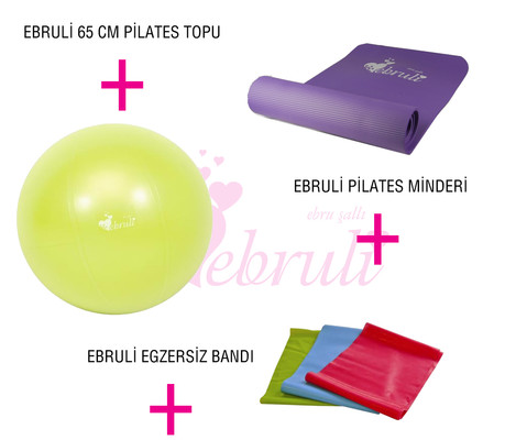 Ebruli Çok Fonksiyonlu Pilates Set 3 AKSQQQSET153