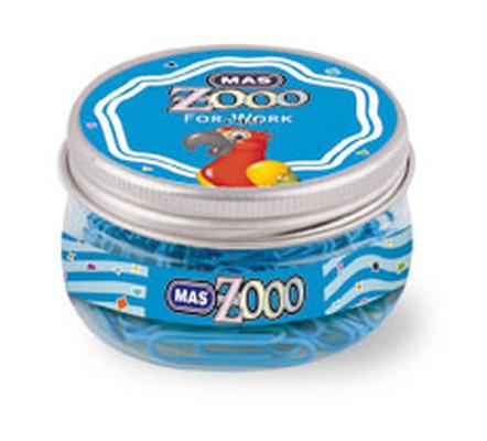 Mas Colors - Yuvarlak Kutuda Plastik Ataş No:3 Mavi 0608
