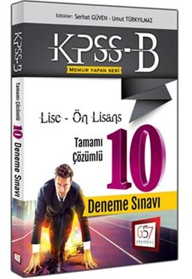 2016 KPSS-B Lise-Ön Lisans Tamamı Çözümlü 10 Deneme Sınavı