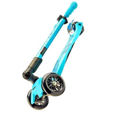 Micro Maxi Folding T-Bar Deluxe Bright Blue Scooter MCR.MMD027