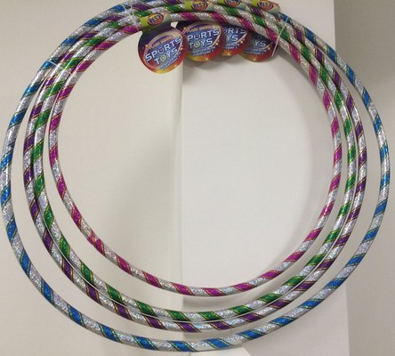 Laser Hula Hoop (82/76/72/66 cm) With Beads  Inside S3017M