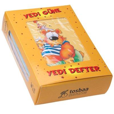 Tosbaa  Tosbaa Günler 7'li10,5x14,5 çizgisiz Defter