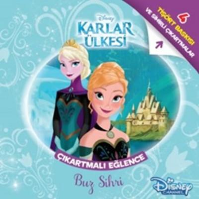 Disney Karlar Ülkesi Çıkartmalı Eğlence Tişört Baskılı - Buz Sihri