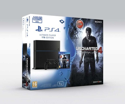 Sony PS4 1TB + Uncharted 4