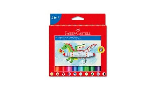 Faber-Castell 2IN1 Jumbo Keçeli Kalem, 10'lu 5062155170