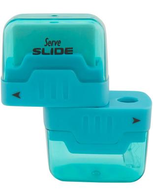 Serve Slide Kalemtraslı Silgi Mavi Tekli