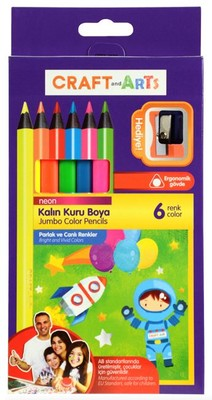 Craft and Arts Kuru Boya Jumbo Neon 6'li Paket