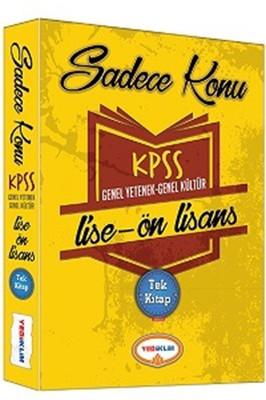 2016 KPSS Lise Ön Lisans Genel Yetenek Genel Kültür Sadece Konu Tek Kitap