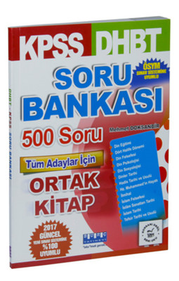 KPSS DHBT Soru Bankası 500 Soru