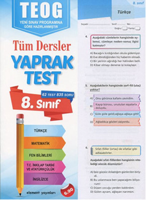 8. Sınıf TEOG Tüm Dersler Yaprak Test