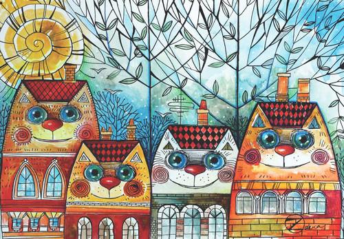 Anatolian Puzzle 500 Parça Puzzle Kedi Evler 3590