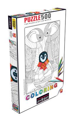 Anatolian Puzzle 500 Parça Coloring Penguens 3595
