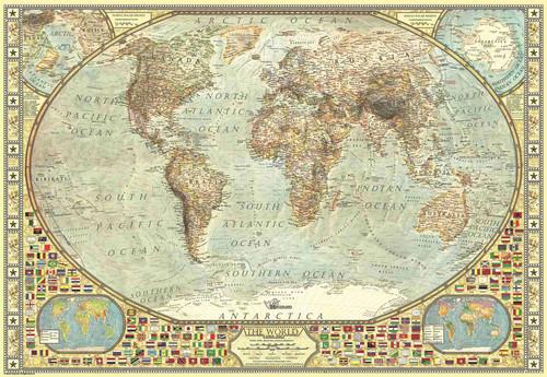 Anatolian 3935 Dünya Haritası 2000 Parça Puzzle