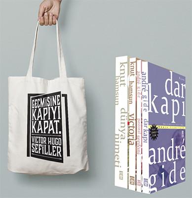 Dünya Edebiyatı Seti 4 Kitap Takım - Geçmişe Kapıyı Kapat Çantası Hediyeli