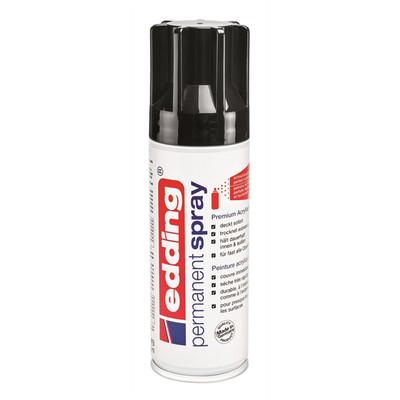 Edding  Permanent Spray Black Glossy