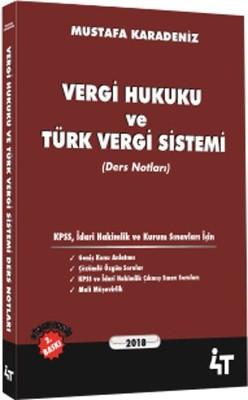 Vergi Hukuku ve Türk Vergi Sistemi - Ders Notları