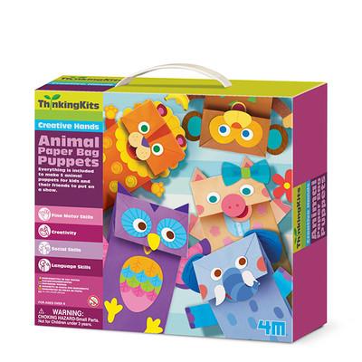 4M-Egt.Set Animal Paper Bag Puppets 4672