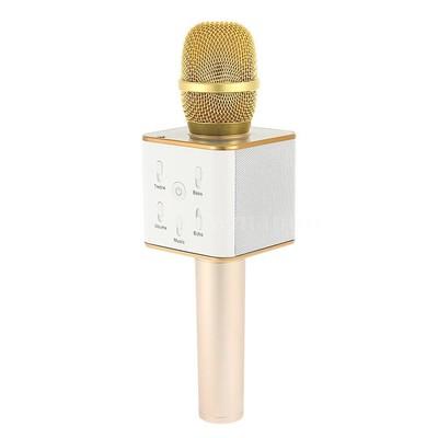Doppler Hoparlörlü Karaoke Mikrofonu White KTV-200