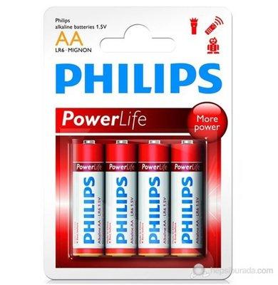 Philips AA 4'lü Alkalin Kalem Pil LR6P4B/97