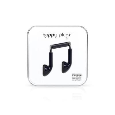 Happy Plugs Earbud Black Klk. h.p.7705