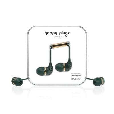 Happy Plugs In-Ear Green Marble Klk. h.p.7786