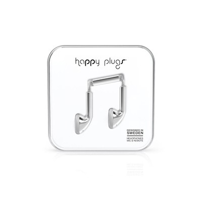 Happy Plugs In-Ear Silver Klk. h.p.7736