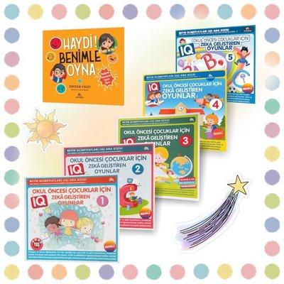 Okul Öncesi Çocuklar İçin Zeka Geliştiren Oyunlar-6 Kitap Takım