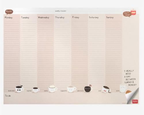 Legami Masaüstü Planlayıcı Kahve