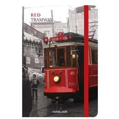 Notelook Red Tramvay A7 Çizgili Defter