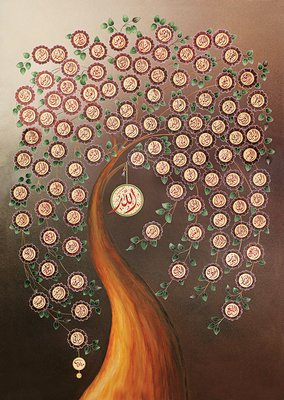 Art Puzzle 4365 Allahın 99 İsmi 1000 Parça Puzzle