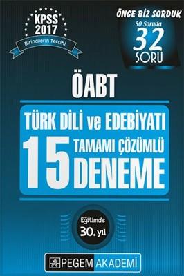 ÖABT Türk Dili ve Edebiyatı 15 Deneme Tamamı Çözümlü Çıkmış 2017