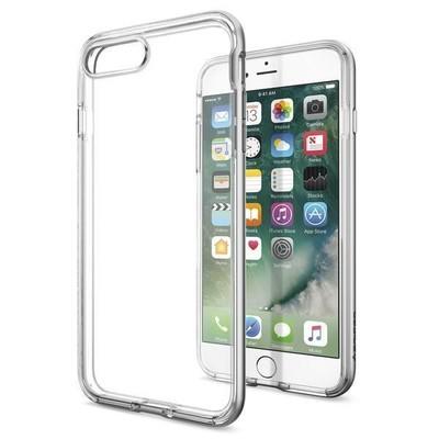 Spigen iPhone 7 Plus Kılıf Neo Hybrid Crystal - Satin Silver