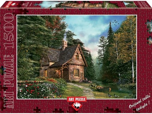 Art Puzzle Kütük Ev 1500 Parça 4621