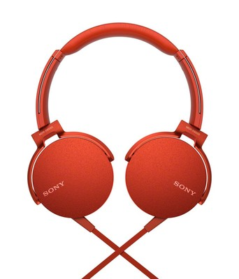 Sony Kafaüstü Kulaklık Kırmızı MDRXB550APR