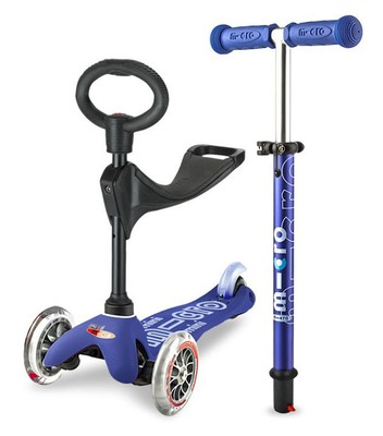 Micro Scooter Mini 3in1 Deluxe Blue
