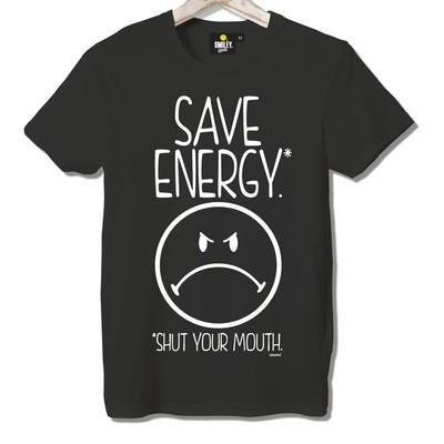T-shirt Frocx Smiley Save Energy Erkek - L