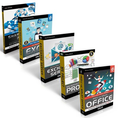 Bilgisayarlı Proje Yönetimi Seti-5 Kitap Takım