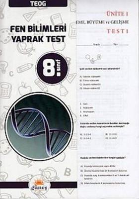 8. Sınıf TEOG Fen Bilimleri Yaprak Test