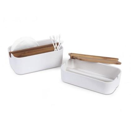 Lexon Zen Pamuk Kutusu Bambu Beyaz