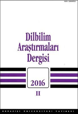 Dilbilim Araştırmaları Dergisi 2016/2