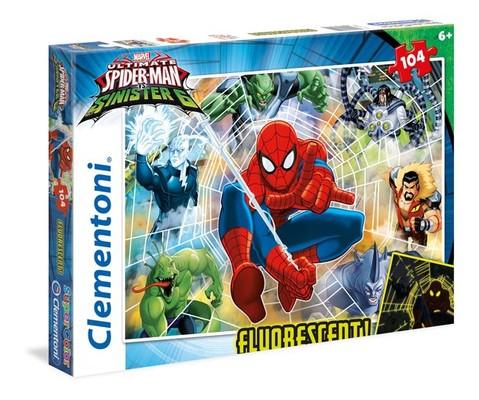Cle-Puz.104 Spiderman Neon 27992