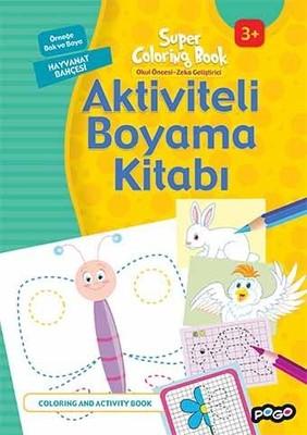 Aktiviteli Boyama Kitabı-Hayvanat Bahçesi