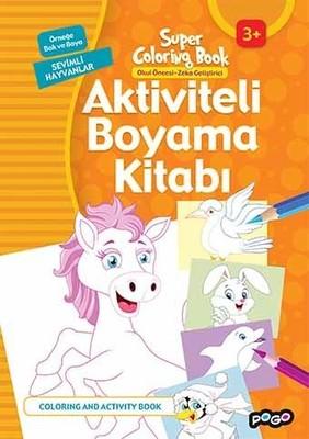 Aktiviteli Boyama Kitabı-Sevimli Hayvanlar